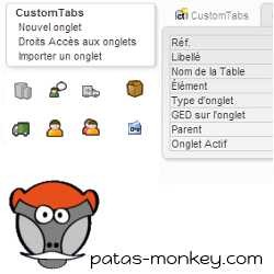 CustomTabs, pestañas dinámicas personalizadas