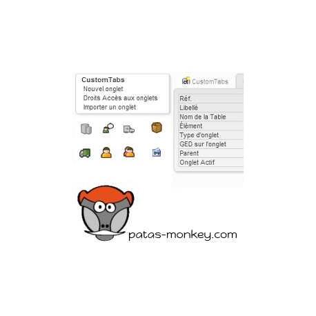 customTabs, générateur d'onglets personnalisés
