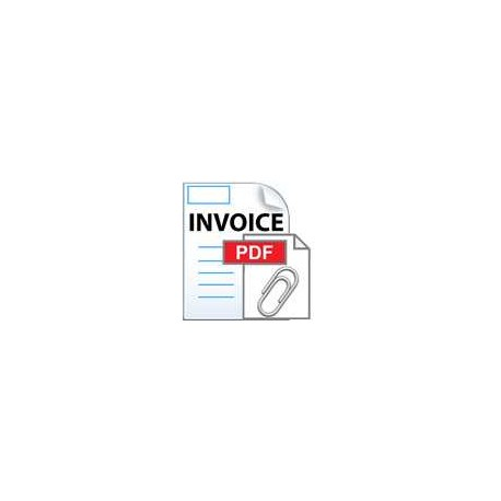 PDF invoice as mail attachment