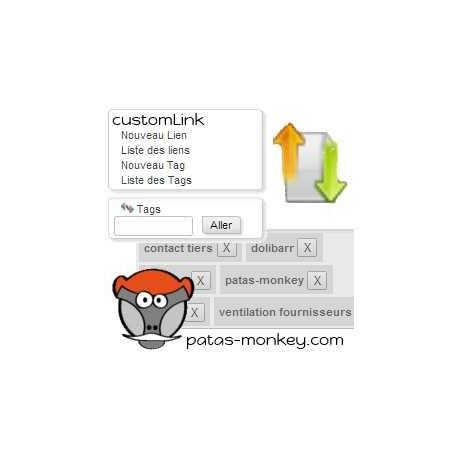 customLink, improved links between elements