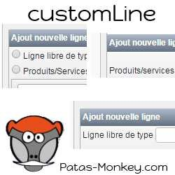 customLine,  improving the seizure of goods and services