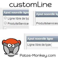 customLine, amélioration de la saisie des produits et services