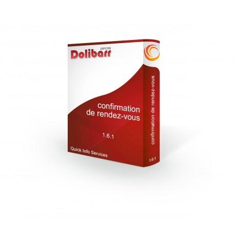 Confirmation de rendez-vous pour Dolibarr 3.7