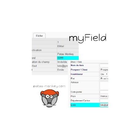 myField : personalización de los campos y de su acceso