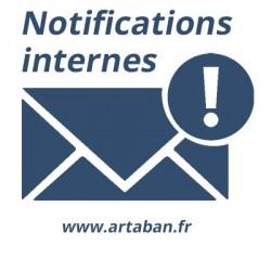 Internal notifications