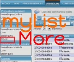 myListMore : gehen Sie weiter mit myList