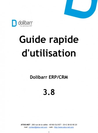 Dolibarr The Book 3.8 (French version)