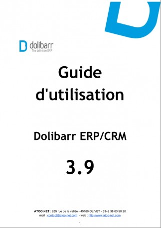 Dolibarr The Book 3.9 (French version)