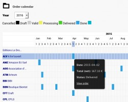 Calendrier Commandes avec Export v1.0