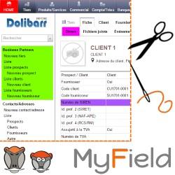 myField : personnalisation des champs de Dolibarr et de leur accès