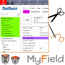 myField : personalization of fields and of their access