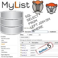 myList : lista dinámica personalizada