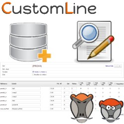 CustomLine, Rapid edition and import of lines in business documents