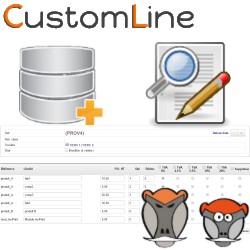 CustomLine, Rapid edizione e importación di linee in carte d'ufficio