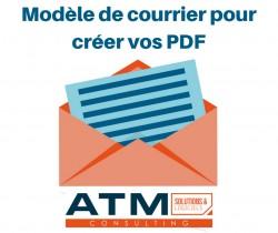 Modèle de courrier pour créer vos PDF