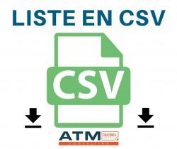Liste en CSV