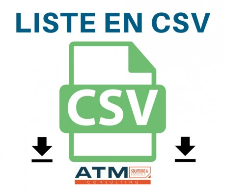 Liste en CSV 4.0.x - 12.0.x