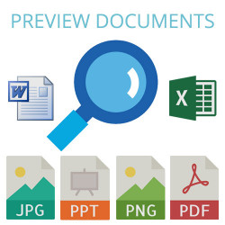 document preview: PDF, word, Excel, ppt, images 6.0.0 - 12.0.2