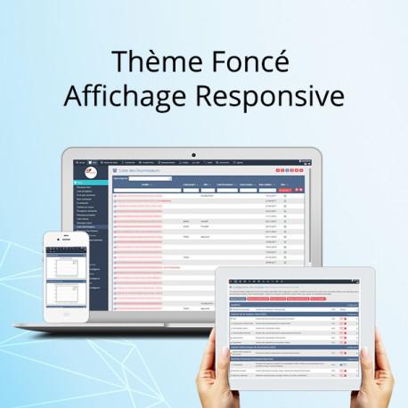 Thème NEXT, foncé affichage Responsive 6.0.0 - 13.0.0