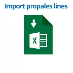 Import de lignes de propale