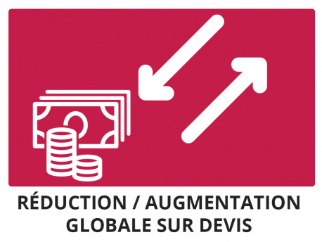 Réduction / Augmentation globale sur devis