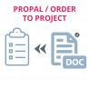 Convierta la propuesta o comando a tarea y proyecto