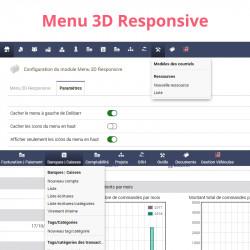 Responsives 3D-Menü für Dolibarr 6.0.0 - 13.0.0
