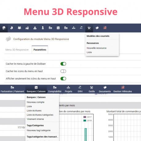 Menu 3D Responsive pour Dolibarr 6.0.0 - 13.0.0