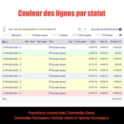 Line colors by status / state Invoice, orders 6.0.0 - 12.0.2