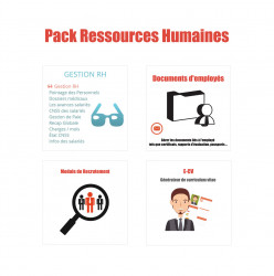 Pack Gestion des ressources humaines Dolibarr 10.*