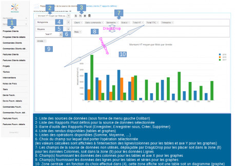 Pivot Reports (Tableaux croisés dynamiques pour Dolibarr)