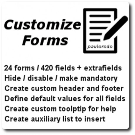 Customize Forms Moule for Dolibarr