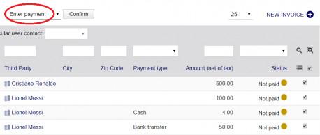 Mass payments