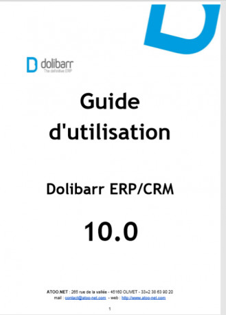 Dolibarr The Book 10.0 (version française)