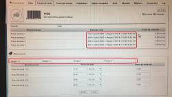 Calculo automatico de tarifas segun margenes sobre el costo