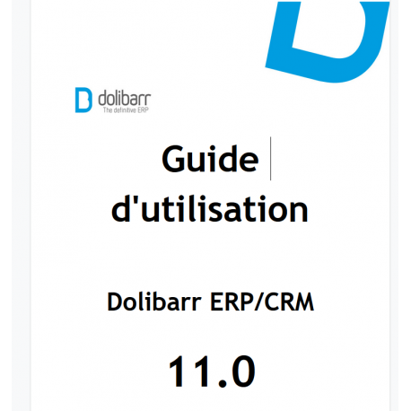Dolibarr The Book 11.0 (French version)
