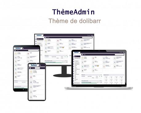 Tema de administración receptiva para Dolibarr 6.0.0 - 13.0.0