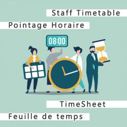 Pointage horaire du personnel et feuille de temps 12.0.3