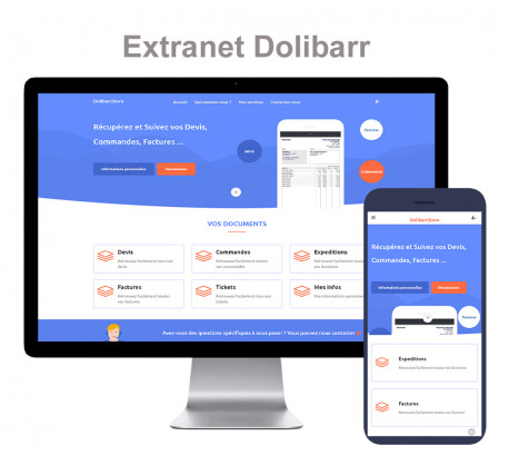 Dolibarr Extranet - Professional Website and Client Extranet 6.0.0 - 12.0.*