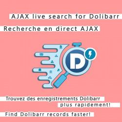 Ajax Live Data Suche nach Dolibarr 6.0.0 - 12.0.0