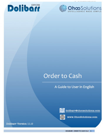 Dolibarr - Order to Cash Training Document