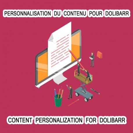 Personnalisation du contenu pourDolibarr 6.0.0 - 12.0.3