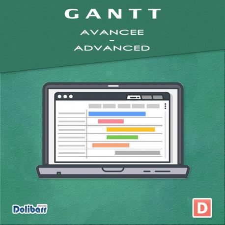 Gantt Avancée pour Dolibarr 6.0.0 - 12.0.3