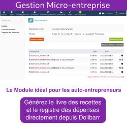 Gestion Micro-entreprise - Livre des recettes et des dépenses