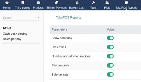 TakePOS Reports + 1 Report customization