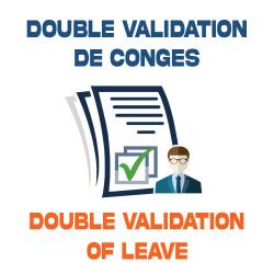 DOUBLE VALIDATION DE CONGÉS