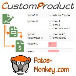 CustomProduct : Gestion d'options sur les produits