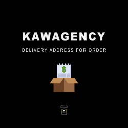 Delivery address for order