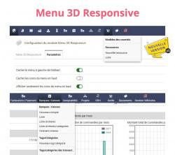 Menu 3D Responsive pour Dolibarr V2