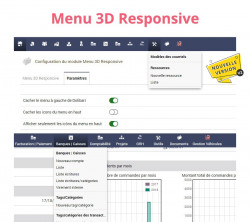 Responsives 3D-Menü für Dolibarr V2
